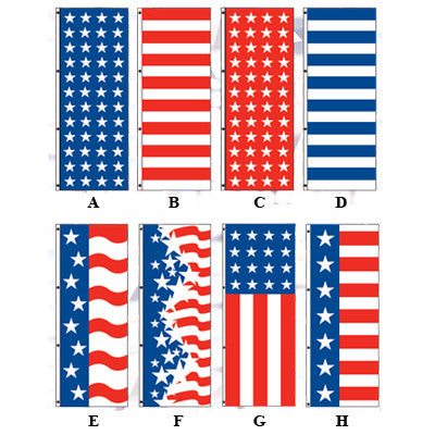 American Drape Flags {EZ345}, Patriotic Products - Auto Apparel