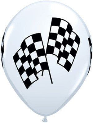 11 Checkered Racing Flag Balloons {EZ513-RACE}, Latex Balloons & Holders - Auto Apparel
