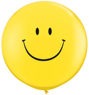 3ft. Happy Face Balloon {EZ514-HAP}, Happy Face Products - Auto Apparel