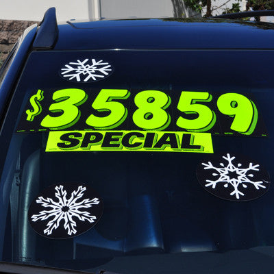 Holiday Decal - Snowflakes {EZ537-SNOWFLAKE}, Car Bows & Holiday Products - Auto Apparel