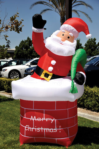 Holiday Inflatable - Santa with Chimney {EZ543-CHIMNEY}, Giant Inflatables - Auto Apparel