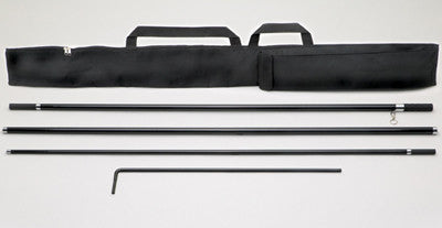 4-Piece Flat Top Flag Pole with Carry Case (EZ568}, Bases, Poles & Brackets - Auto Apparel