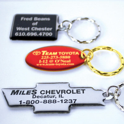 Domed Metal Key Tags {EZ609}, Key Tags - Auto Apparel