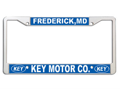 Metal Frames 2 Color Imprint {EZ701-2}, License Plate Frames - Auto Apparel