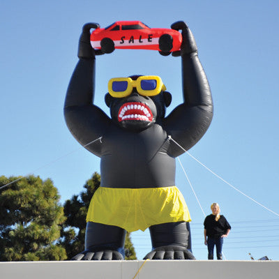 Giant 20' Gorilla Inflatable Kit {EZ855}, Giant Inflatables - Auto Apparel