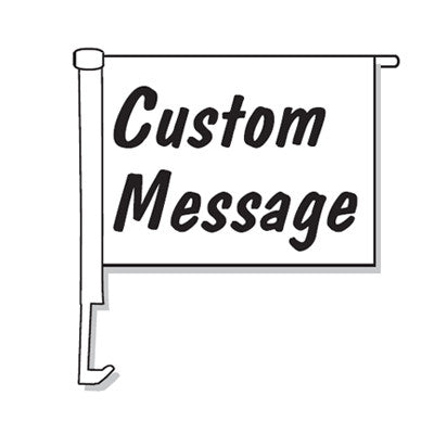 Custom Clip-On Boom Pole Car Window Flags {EZ886-CUST}