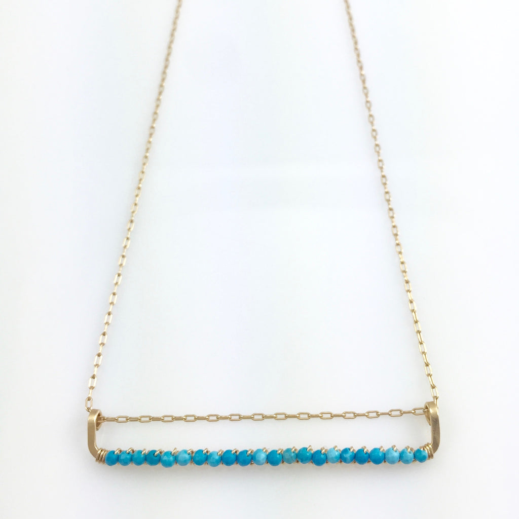 Turquoise Bar Necklace
