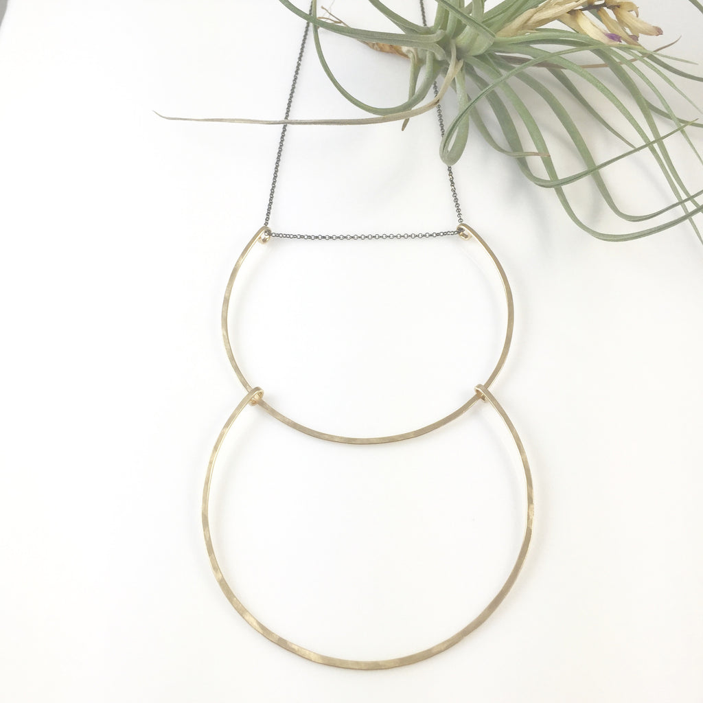 Double Large U Necklace