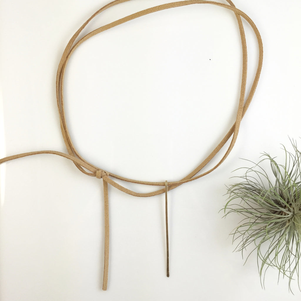 Leather Spike Choker