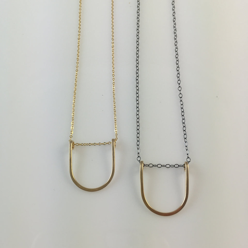 Mini Horseshoe Necklace
