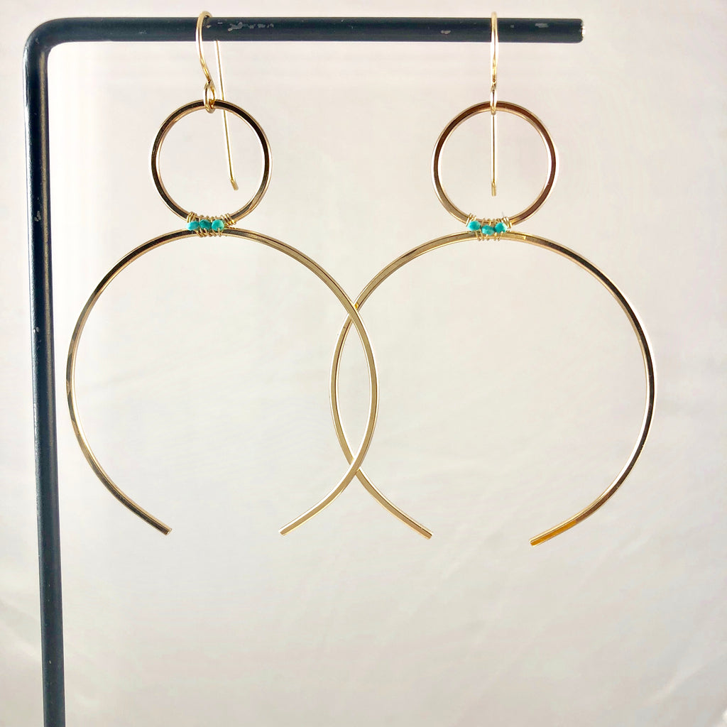 Sarah Earrings with Turquoise