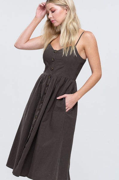 Linen Midi Sundress