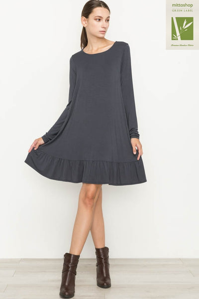 Bamboo Ruffled Hem Dress