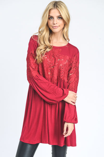 Red Alanna Top