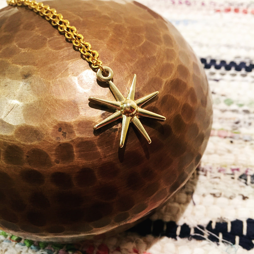 Soul Star Necklace in Gold