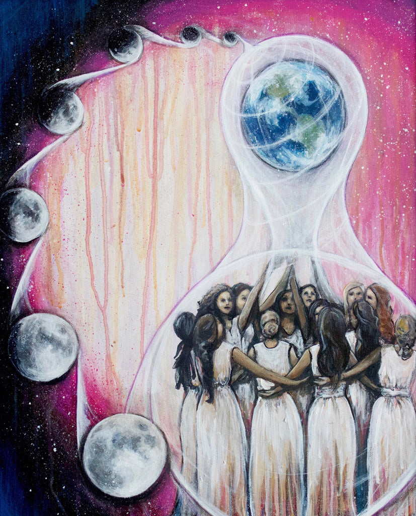 Moon Circle Sisters art by Carrie Martinez