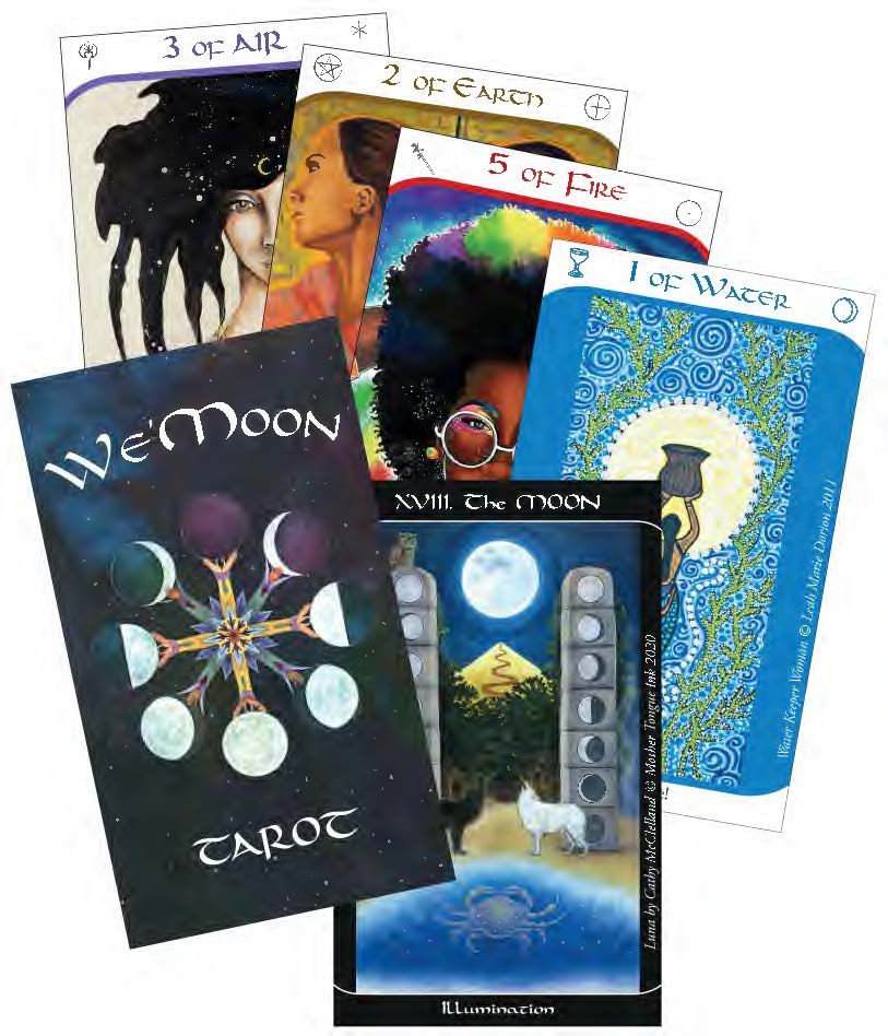New Tarot Deck by We'Moon packed with unique art by women