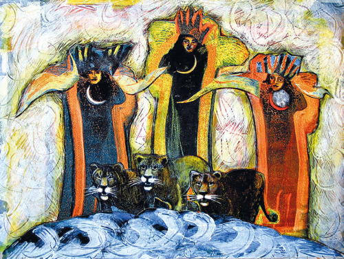Denise-Kester-The-Three-Graces-and-Their-Cats-Goddess-Art