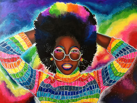 Destiney Powell Colorful Queen empowering black women art