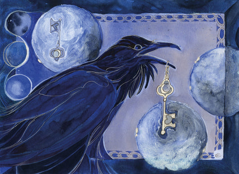 Elizabeth Diamond Gabriel Raven's Key, Magical art, witch art, Raven art