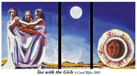 Painting of Tea with the Girls ¤ Carol Wylie 2005