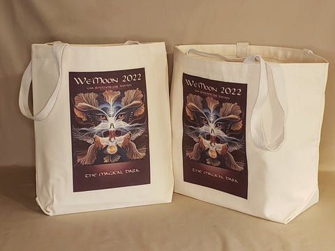beautiful cotton canvas art tote bag in two handy sizes