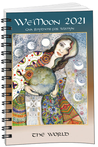 Cover image of We'Moon 2021 spiral bound astrological moon phase planner