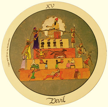 XV the Devil card in Motherpeace Tarot