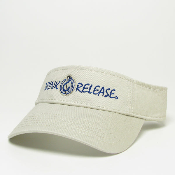 Drink & Release Twill Visor Stone