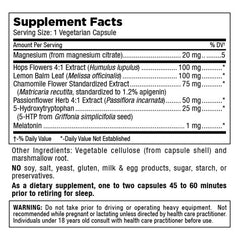 Sleepy Sleep - Herbal Sleep Cycle Support - 60 Vegetarian Capsules