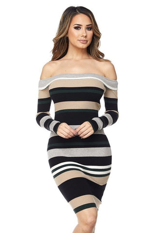 Flawless in Stripes Midi Dress