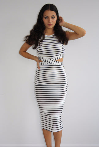 In Love with Stripes Midi Dress