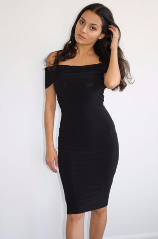 Bella Off-the-Shoulder Midi Dress