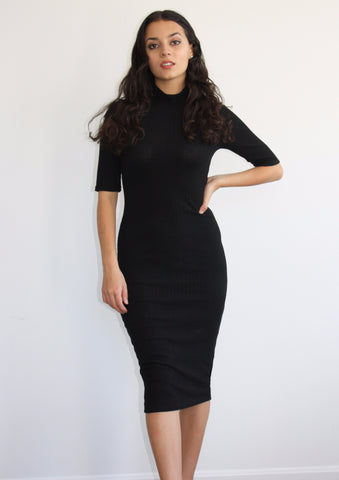 Keeping it Classy Ribbed Midi Dress