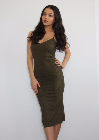 Suede & Sultry Midi Dress