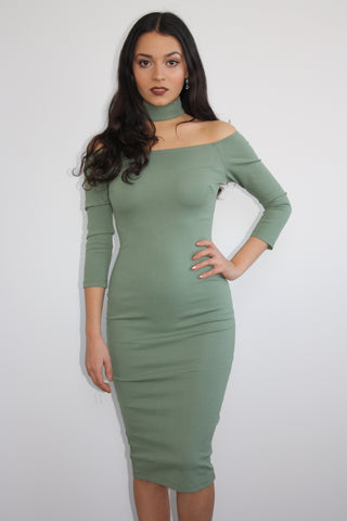 All Choked Up Midi Dress