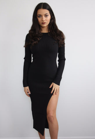 Slit to the Heavens Midi Dress
