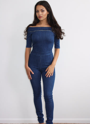 Sultry Denim Jumpsuit