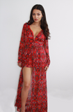 Red Tropic Romper