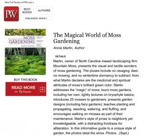 REVIEW The Magical World of Moss Gardening_PublisherWeekly_WEB