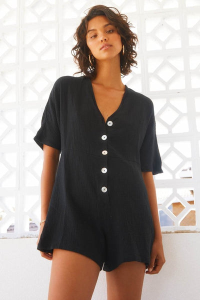 ZEPHIE PLAYSUIT BLACK