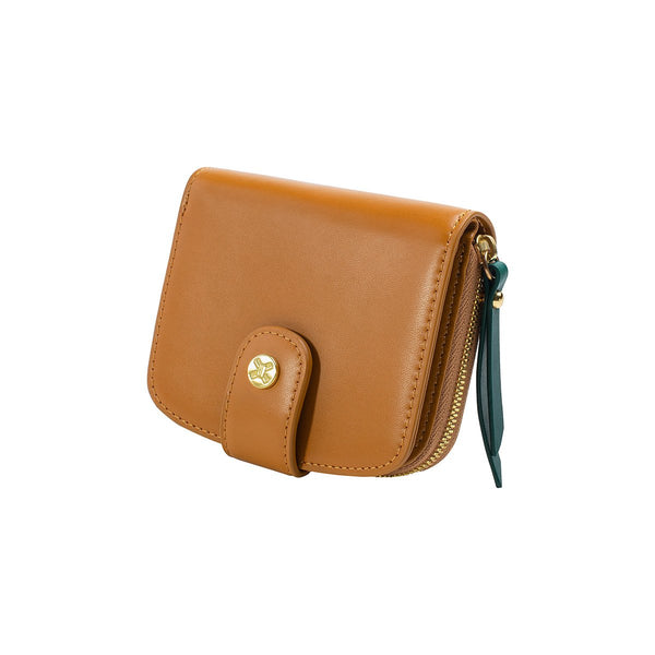 The faye wallet COGNAC
