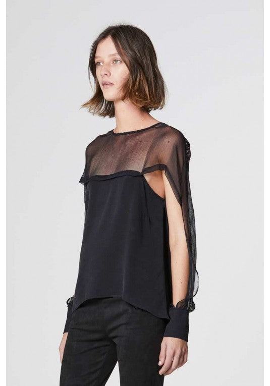 Once Was | Jagger Cape Sleeve Top