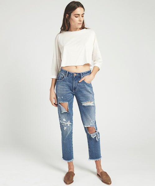 One Teaspoon | Fresh Blue Awesome Baggies High Waist Straight Leg