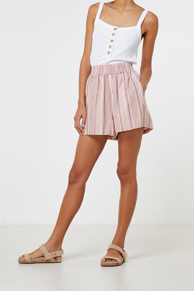 Elka Collective | Florencia Short Linen Stripe