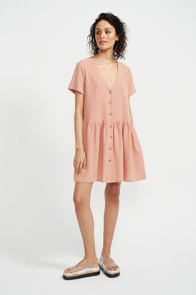 Harvest Mini Dress Terracotta