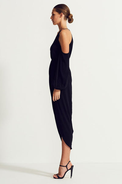 Shona Joy - Open Shoulder Draped Maxi Voltaire