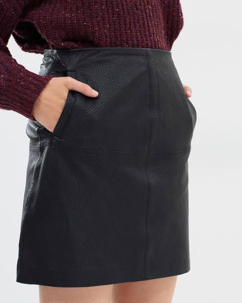 Elka Collective | Carrie Leather Skirt