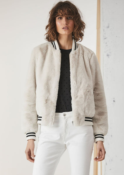 Ena Pelly | Essential Faux Fur Bomber Jacket