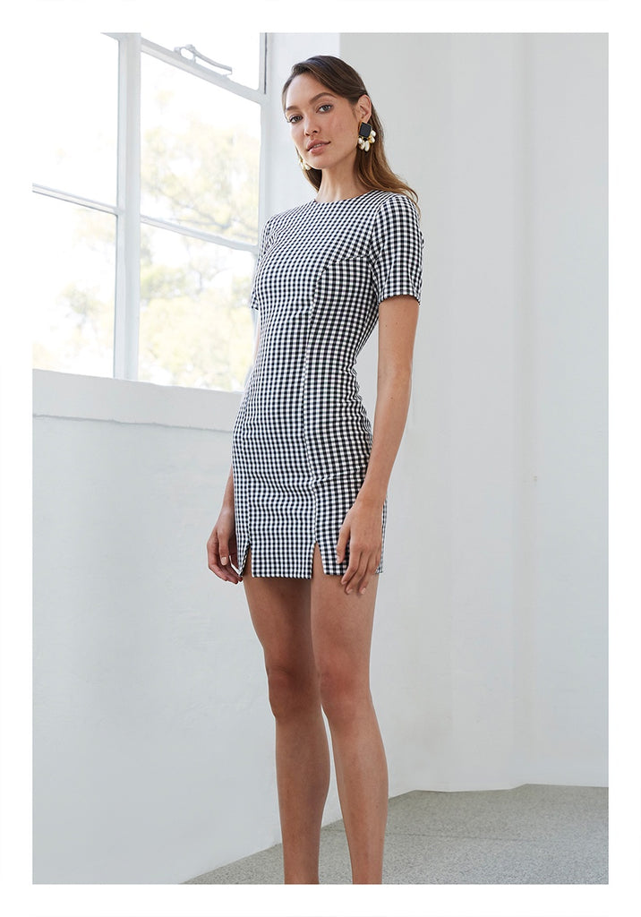 By Johnny | Check Mini Tee Dress